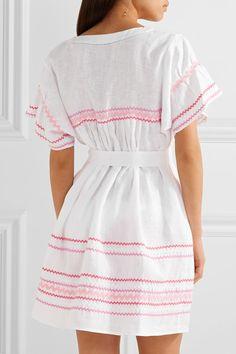 Lisa Marie Fernandez - Fiesta Rickrack-trimmed Linen Mini Dress - White -