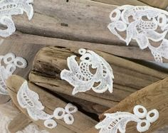 10 Driftwood and Vintage Lace Place Setting Signs for Wedding Tabletop Celebrations Elegant Simple Boho Beach Lake Cottage Decor