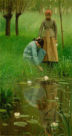The Mirror, Lovell Birge Harrison, after 1910, Haggin Museum.