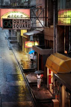 Hong Kong in the rain, by Christophe Jacrot