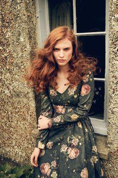 """AW 16/17 """"The Brits"""" Catalogue   """"Highgrove Dress, roses""""  http://shop.lenahoschek.com/"""