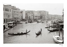 Venice Photo - Italy Photography, Gondola, Travel, Wanderlust, Black and White Film Photos, Fine Art Prints, Architecture, Romantic, Venezia. $30.00, via Etsy.