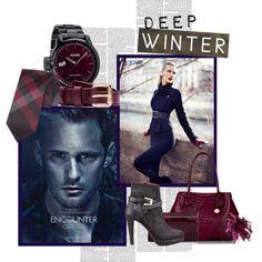 Deep Winter by spicemarket on Polyvore featuring Giorgio Armani, Brahmin, Jimmy Choo, Coast, Nixon, Burberry, Acne Studios, Calvin Klein, La Femme and Noble House