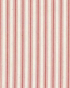 Medium Weight Drapery / Medium Weight Upholstery Multi-purpose and versatile classic ticking stripe in faded red printed on a natural cotton duck base. Small Kitchen Cabinet Design, Industrial Kitchen Design, Contemporary Kitchen Design, Ticking Fabric, Ticking Stripe, White Family Rooms, Kitchen Colour Combination, Small American Kitchens, Yellow Cabinets