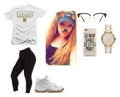 """""""yall go follow this baddie"""" by kasey-343 ❤ liked on Polyvore featuring Royalty Collection, NIKE, GlassesUSA and MICHAEL Michael Kors"""