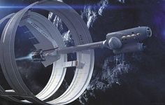 NASA unveils designs for a Star Trek-style Warp Drive Ship, called IXS Enterprise (of course), similar to the Star Trek spaceship, that could send us one day to the stars. Sun Solar System, Cosmos, Enterprise Ship, Constellations, Les Satellites, Warp Drive, Faster Than Light, Johnson Space Center, Space Shuttle