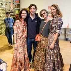 Viviana Volpicella , Renata Molho (with her new Confetti Big Skirt) and her son, and JJ Martin | LaDoubleJ Salone Recap Milan 2016 | LaDoubleJ