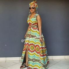 👗CODE OUT 💸 Including Headwrap ☎️ ✂️Number 6 of 💐🌹🍀 Telling African Story through African Print 💐🌹🍀 Long African Dresses, African Print Dresses, African Print Fashion, African Fashion Dresses, African Prints, African Patterns, African Clothes, African Attire, African Wear