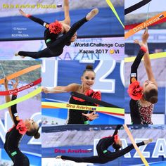 Dina AVERINA (Russia) ~ Ribbon collage @  World Challenge Cup Kazan 2017   Photographer Oleg Naumov from rgymrussia.