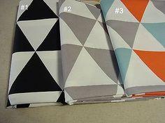 3-Colour-Cotton-FABRIC-Scandinavian-Modern-triangle-pattern-110-x-90cm