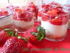 Verrines de fraises, mascarpone et boudoirs