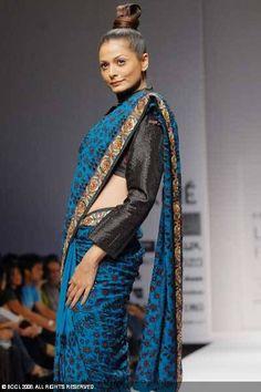 Saumitra saree : long sleeve saree blouse    saree blouse design designer saree