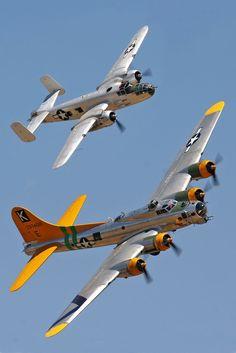 Boeing B-17 and B-25 Mitchell