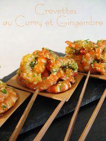 J'en reprendrai bien un bout...: Crevettes au Curry & Gingembre