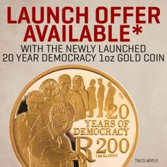 Mandela Coins - celebrate 20 years of Democracy with The South African Gold Coin Exchange& The Scoin Shop. Coin Collecting, Gold Coins, 20 Years, Product Launch, How To Apply, African, Shopping