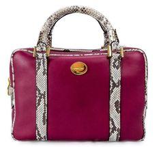 @ Ritzy Bagz ♥ Kožená kabelka ALESSA zdobená hadí kůží ♥ handmade leather handbag with python