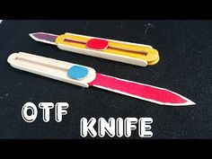 How to make a OTF (out the front) Knife using Wooden sticks | Popsicle stick Knife - YouTube