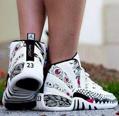 "Air Jordan 12 ""Customs"" Air Jordan Sneakers, Jordans Sneakers, Air Jordans, High Top Sneakers, Shoes Sneakers, Sneaker Heads, Adidas Shoes Outlet, Kustom, Michael Jordan"