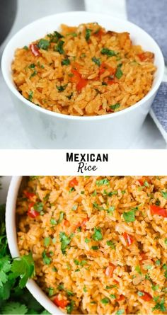 Serve restaurant style Mexican rice alongside tacos, burritos, or enchiladas for a true south of the border experience. It's flavorful, so easy to make, and economical. Quick Rice Recipes, Seasoned Rice Recipes, Mexican Rice Recipes, Rice Recipes For Dinner, Side Dish Recipes, Soup Recipes, Vegetarian Recipes, Mexican Rice Recipe Restaurant Style, Easy Mexican Rice