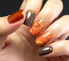 31DC2014 Day 02: Orange Autumn Water Marble Found on Nail Polish Society's Website! OPI Toucan Do It If You Try OPI Where Did Suzi's Man-go? OPI You Don't Know Jacques OPI A Woman's Prague-ative Born Pretty Rhinestones