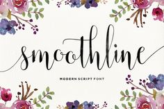 Smoothline Script is a modern calligraphy font, with characters dance along the baseline and elegant touch.With almost 393 glyphs.Opentype features with stylistic alternates, ligatures and