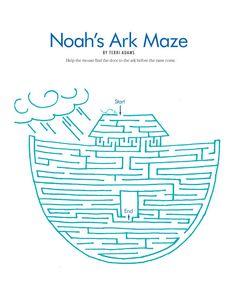 1) Noah's Ark Maze 2) Minä ja Raamattu -kirjassa sivut 68 - 70 3) Rohkeasti Raamattuun kirjassa alkukertomusvisa sivut 130-136
