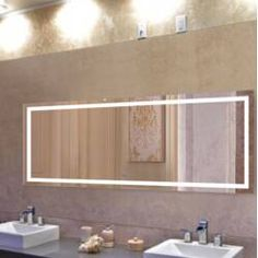 Wade Logan® Kirkby Coastal Lighted Vanity Mirror & Reviews | Wayfair Lighted Vanity Mirror, Vanity Set With Mirror, Led Mirror, Round Wall Mirror, Wall Mounted Mirror, Vanity Mirrors, Bathroom Interior, Modern Bathroom, Small Bathroom