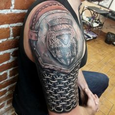 Славянские и скандинавские татуировки | эскизы's photos Tribal Arm Tattoos, Forearm Tattoos, Body Art Tattoos, Cool Tattoos, Shoulder Armor Tattoo, Shoulder Tattoos, Warrior Tattoos, Viking Tattoos, Full Sleeve Tattoos