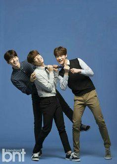 Eunwoo, MJ, and Moonbin