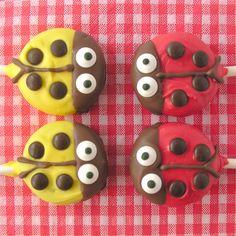 Ladybug Oreo Pops
