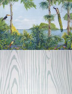 This Blue lagoon wallpaper/mural is amazing.