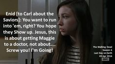 Does carl hook up with enid