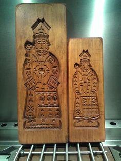 Sinterklaas speculaasplanken - St Nikolaus spekulatiusbretter - St Nicholas cookie molds