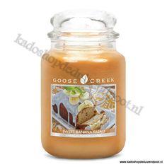 Sweet Banana Bread Goose Creek Candle  Large Jar