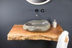 Waschtischplatte aus Massivholz 100 cm