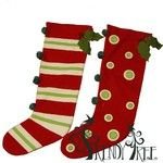 Christmas Stocking Set of 2 Sylvestri Snow Business Collection Set of two Christmas stockings. Wool front, corduroy back. Stockings are assorted styles. Once is decorated stripes