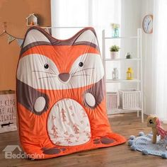 Chic Design Little Fox Shaped Soft Quilt