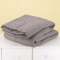Kids' Blankets: Kids Grey Down Comforter in Kids Blankets