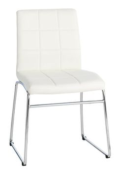 Spisebordsstol HAMMEL kunstlæder hvid | JYSK