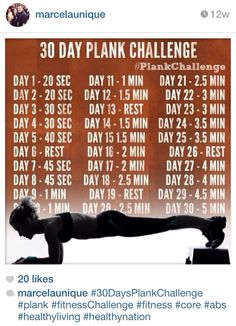 30 Days Plank Challenge! Amazing Results In One Month!