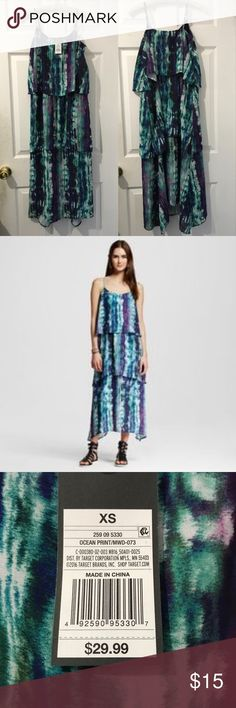 "•Mossimo• Ocean Print Maxi Dress •Mossimo• Ocean Print Maxi Dress. Size: XS. NWT. Very cute with adjustable strap. Very soft and comfy. Non smoke home.  Measurement: 👉🏻Armpit to armpit: 16"" 👉🏻Length top of bust to front bottom: 42"" to 43"" Mossimo Supply Co. Dresses Maxi"