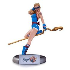 It's The DC Comics Bombshells Statue - Stargirl. Designed By Ant Lucia; Sculpted By Tim Miller The line of striking stylized statues of the most popular female heroes and villains of the DC Universe m Hawkgirl, Batwoman, Arkham Knight, Toy Art, Comic Book Heroes, Comic Books Art, Comic Art, Lady Bug, Dc Comics Bombshells