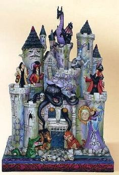 Tower of fright Haunted Castle Disney Villains figurine (Jim Shore) from Fantasies Come True