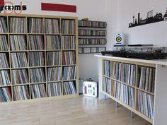 room of the week 53 – Moodyzwen - Jürgen Seedorf - Record Shelf, Vinyl Record Storage, Sound Room, Dj Sound, Man Cave Room, Vinyl Room, Audio Room, Spare Room, Storage Spaces