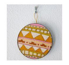 Geometric Circle Ornament