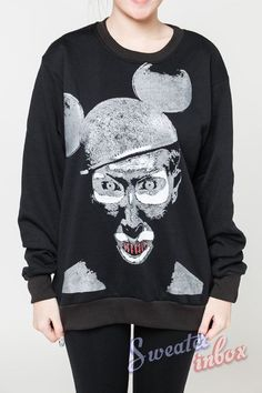Marilyn Manson Jumper Devil Mickey Mouse Metal by SweaterinBox, $23.99