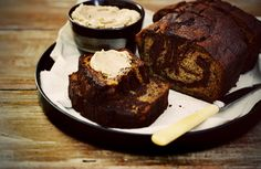 Chocolate Banana Bread with Cinnamon Butter - Citrus and Candy
