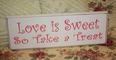candy reception bar | ... Treat SIGN Wood Shabby Style Your Color Wedding Candy Bar Cake Table