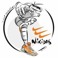 Nike ? Adidas ? No : Nikidas by Glep