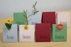 Platzkarten für die Hochzeitstafel, unsere Kleinsten :-)